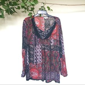 Dress Barn extra-large Boho blouse